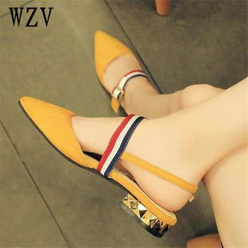 2018 Spring pointed toe Flat Shoes Woman With low Loafers fashion Casual Shoes Women Flats Women Shoes E014