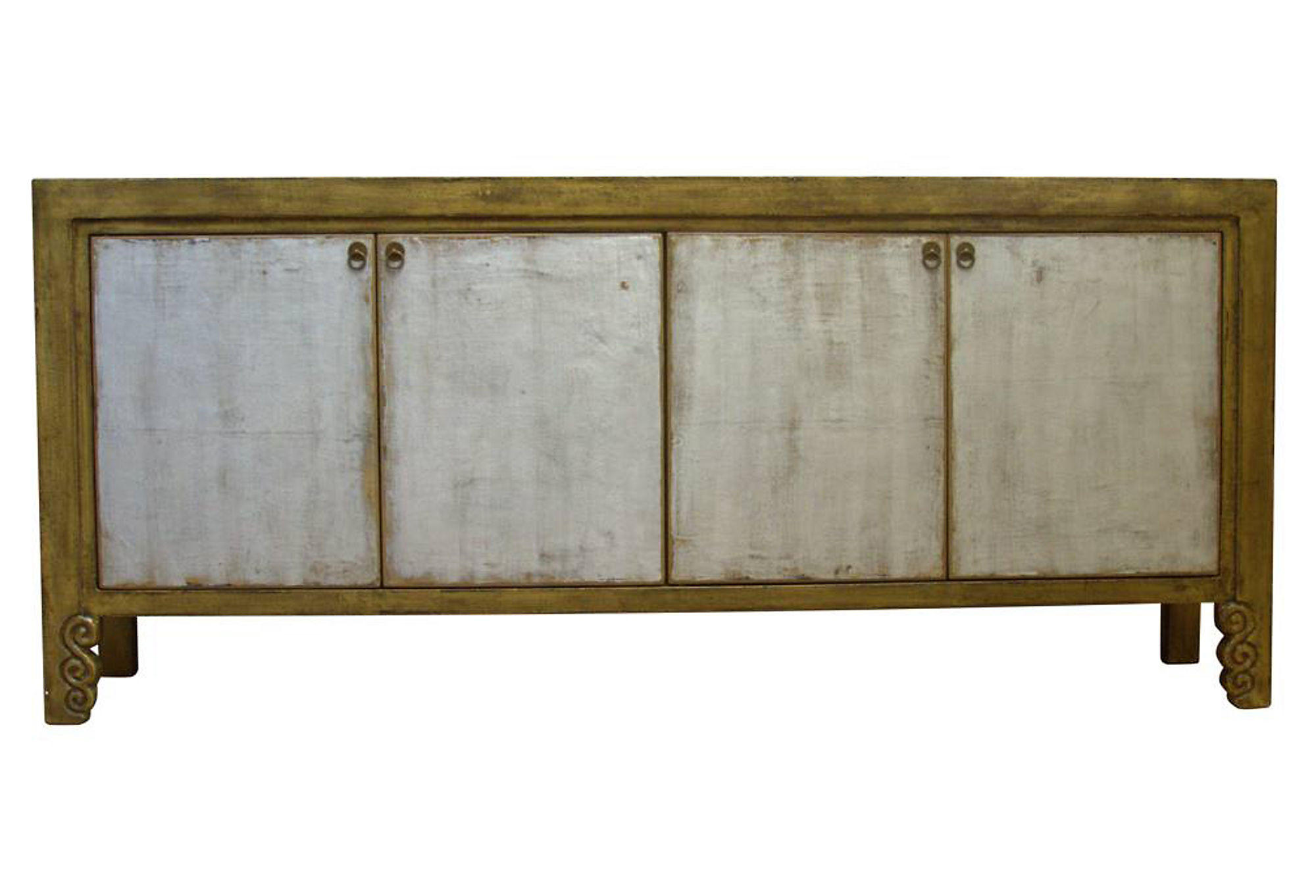 Madera home june sideboard gold silver from one kings lane for Sideboard gold