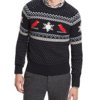 GANT by Michael Bastian Lambswool Cardinal Sweater
