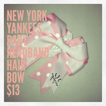 Yankees Hair Bow