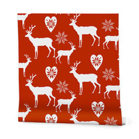 Natt Christmas Deer Wrapping Paper