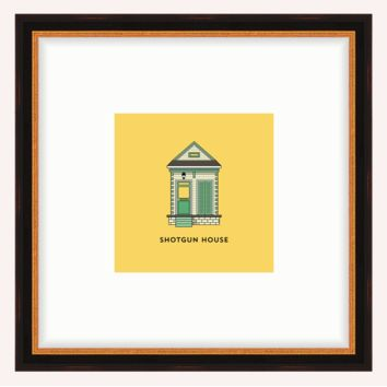 Shotgun Framed Architecture Print
