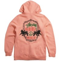 Lion Shield Hoody Salmon