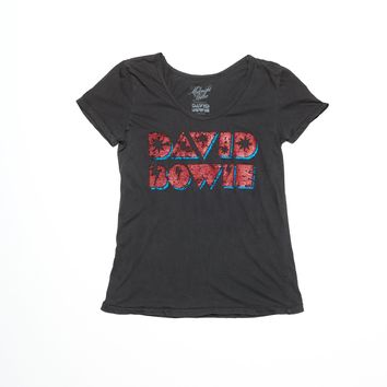David Bowie Lightning Bolt Ballet Tee - Vintage Black