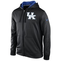 Nike Kentucky Wildcats KO Performance Full Zip Hoodie Sweatshirt - Black