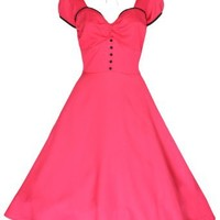 Lindy Bop 'Bella' Classy Vintage 1950's Rockabilly Style Pink Swing Party Jive Dress
