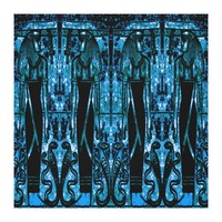 Egyptian Priests and Cobras in Blue III C1 SDL Canvas Print