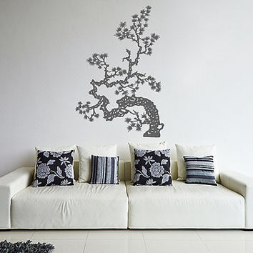 kik350 Wall Decal Sticker Room Decor Wall Art Mural Japanese bonsai tree living room Japanese restaurant