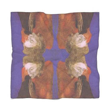 Women with Crow Picasso Scarf