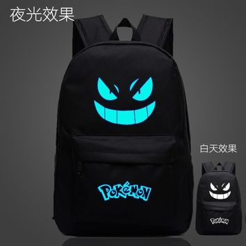 High quality Galaxy Luminous Printing Backpack  Gengar Backpacks Emoji Backpack School Bags For Teenagers  Kawaii Pokemon go  AT_89_9