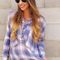 Lace To My Lou Pocket Tunic {Plaid}