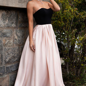 Tea Length Strapless Dress 24238