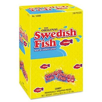 Swedish Fish CDB-43146 Grab-and-Go Candy Snacks In Reception Box-1 Count