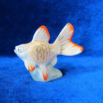 VINTAGE Porcelain Figurine Soviet fish  1970 russian antique