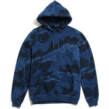 Lawless Camo Pullover Hoody Blue Chips