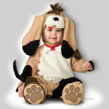 New Puppy Love Baby Babygrow Outfit Kids Dog Monkey Bear Animal Toddler Fancy Dress Costume For Christmas