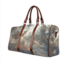 Travel Bag Space Traveller - Waterproof fabric, Travel, Sturdy straps, Pocket, Space, Galaxy, Traveler, Custom, Name, Initials