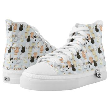 Patterns Cat High-Top Sneakers