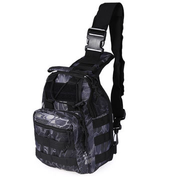 Hot 600D Outdoor Camping Hiking Bag Sports Bag Shoulder Military Tactical Backpack 4 Colors Utility Camping Hiking Trekking Bag