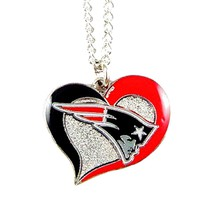 Swirl Heart Patriots Necklace