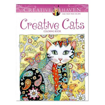 24 Page Creative Cats Coloring Book For Adults/ Children Stress Relief