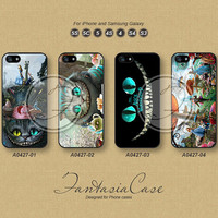 Alice Cat, iPhone 5 case, iPhone 5C Case, iPhone 5S case, iPhone 4S Case, Disney, Phone Cases, Samsung Galaxy S3, Samsung Galaxy S4, FA0427