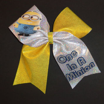 Inspired by the Little Yellow Guys Cheer Bow