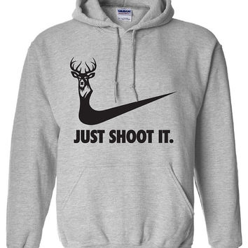 just shoot it hunting buck doe deer funny US dope hoodie hooded sweatshirt Mens Womens Ladies USA Canada wild wildlife moose turkey DT-169