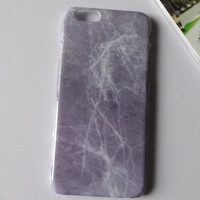 Purple marble mobile phone case for iphone 5 5s SE 6 6s 6 plus 6s plus + Nice gift box 71501