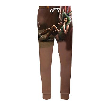 LiZhiYang 3D print Men Women Funny casual Helloween brown Sexy Witch Fashion Clothes Sweatpants Autumn Winter Style Trousers