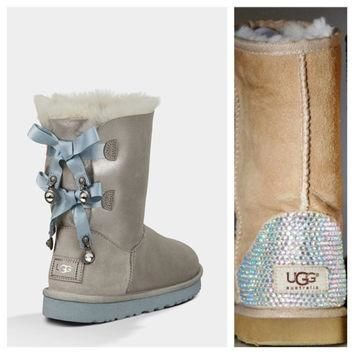 Swarovski Crystal Embellished Limited Edition Bailey Bow Uggs - Winter / Holiday Chris