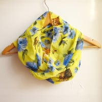 Yellow Floral Scarf