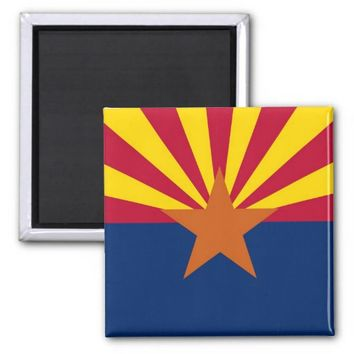 Magnet with Flag of Arizona State - USA