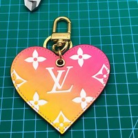 Louis Vuitton Lv Love Lock Heart Gradient Bag Charm M67435 - Best Online Sale