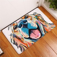 Dog Print Carpet Anti-slip Floor Mat