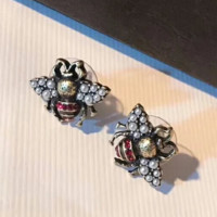 GUCCI Women new fashion pearl diamond bee earring accessories