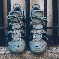 "ONETOW Nike Air More Uptempo""Green 3M�Basketball Shoes 415082-007"