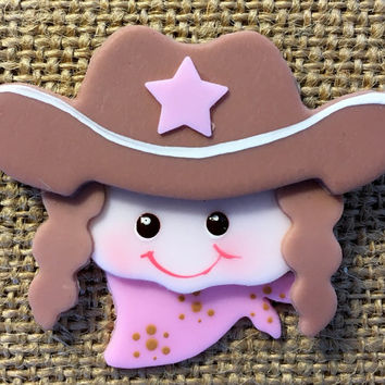 12 Polymer Clay Cowgirl Decorations