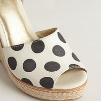 Peppered Canvas Wedges