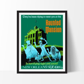 Haunted Mansion, Disneyland Poster