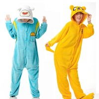 2017 Winter Pijama Sleepwear Hot Cartoon Adventure Time with Finn and Jake Cosplay Costumes Cute Lovely Pajamas