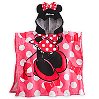 Minnie Mouse Hooded Towel for Girls - Personalizable