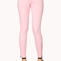 LOVE 21 Life In Progress Zipped Twill Pants Peony 24