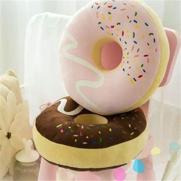 Donut Design Soft Round Pillow