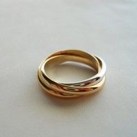 25mm Rolling Trio Trinity Ring 14K Gold Filled 925 by StreetBauble