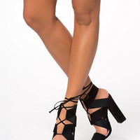 Folded Lace Up Bootie - Nly Shoes - Black - Party Shoes - Shoes - Women - Nelly.com
