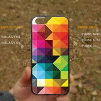 Fantasy Geometry Watercolor colorfull iPhone 5s case,iPhone 5C ,Samsung Galaxy S3,S4 Case,iPhone 5 Case,iPhone 4,4s case,water proof,Gifts