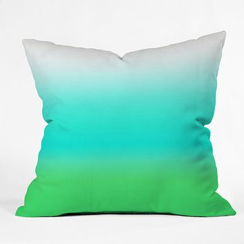 Natalie Baca Aquamarine Ombre Throw Pillow