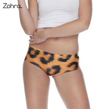 Zohra Leopard Weed 3D Printing Briefs Underwear Lingerie Women Panty Sexy Tanga Ropa Interior Mujer Bragas Culotte Femme Panties