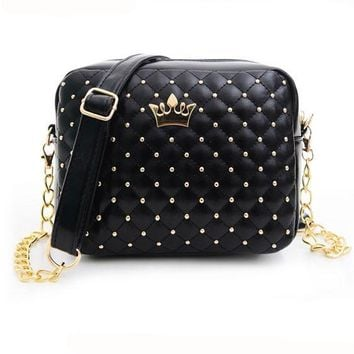 Women Bag Bolsa Feminina Women Handbags Bolsos Mujer Famous Brand Women Messenger Bag Rivet Chain Shoulder Bag Leather Crossbody
